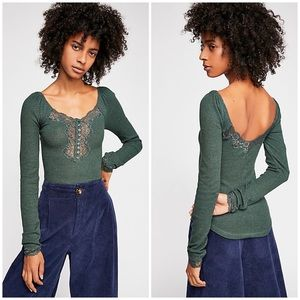 Free People To The West Tee - Green